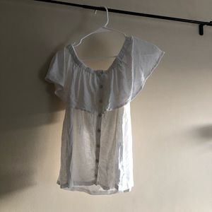 white off the shoulder american eagle top